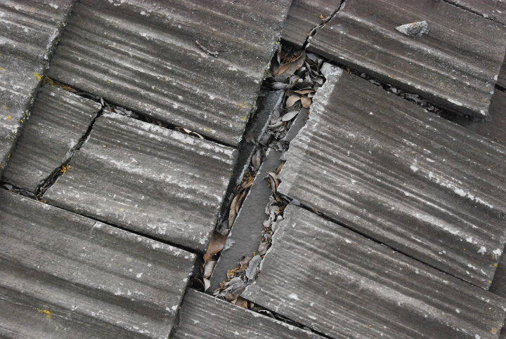 Image of Broken Roofing Pieces