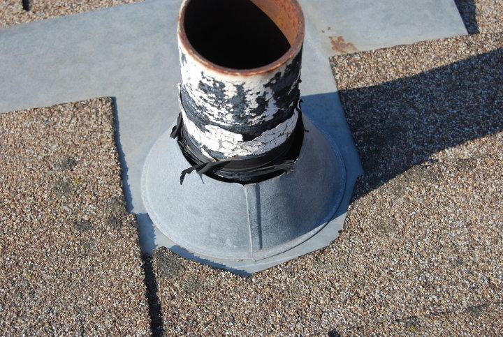 image of a leaky plumbing jack